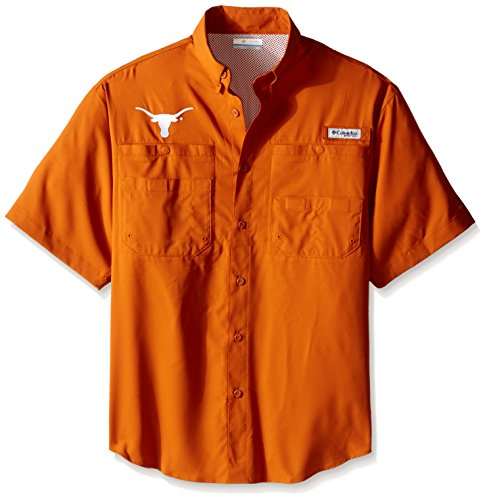 Texas Longhorns Ncaa Golf Tee - NCAA Texas Longhorns Men's Collegiate Tamiami Shirt, Bright Copper, Medium