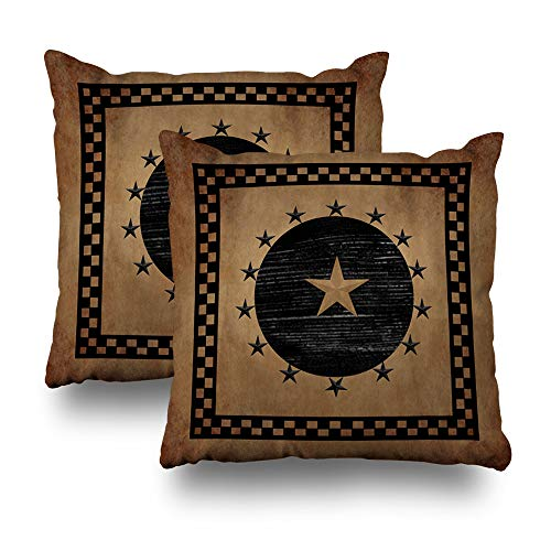 Wayato Set Of 2 Pillow Case Cotton Polyester Blend Throw Pillow Covers Primitive Star Bed Home Decor Cushion Cover 18x18 Inch Buy Online In Paraguay At Desertcart Com Py Productid 106596117