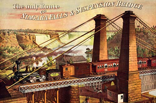 (Wooden Jigsaw Puzzle - Niagara Falls Railway & Suspension Bridge - 401 Unique Wooden Pieces - Made in The USA by Nautilus Puzzles - Challenge Any Puzzle Lover)