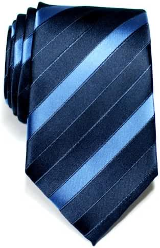 Retreez Three-Colour Stripe Woven Microfiber Men's Tie Necktie - Various Colors