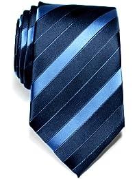 Three-Colour Stripe Woven Microfiber Men's Tie Necktie - Various Colors