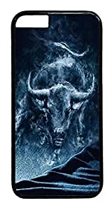 ACESR Bull Smoke iPhone 6 plus Hard Case PC - Black, Back Cover Case for Apple iPhone 6 plus(4.7 inch)