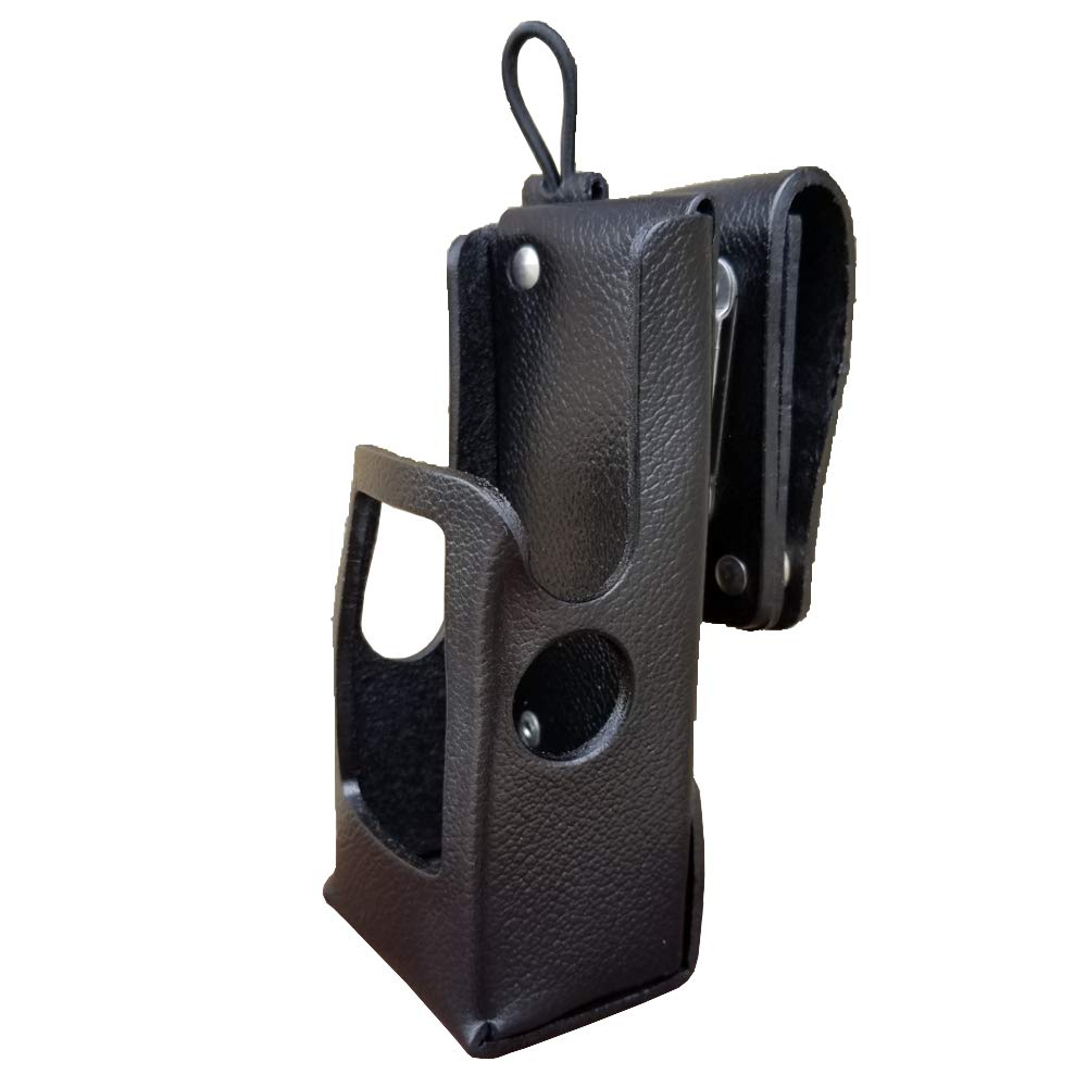 Case Guys MR8606-3AW Hard Leather Swivel Belt Loop Holster Case with Antenna Loop for Motorola APX 6000 8000 Two Way Radios