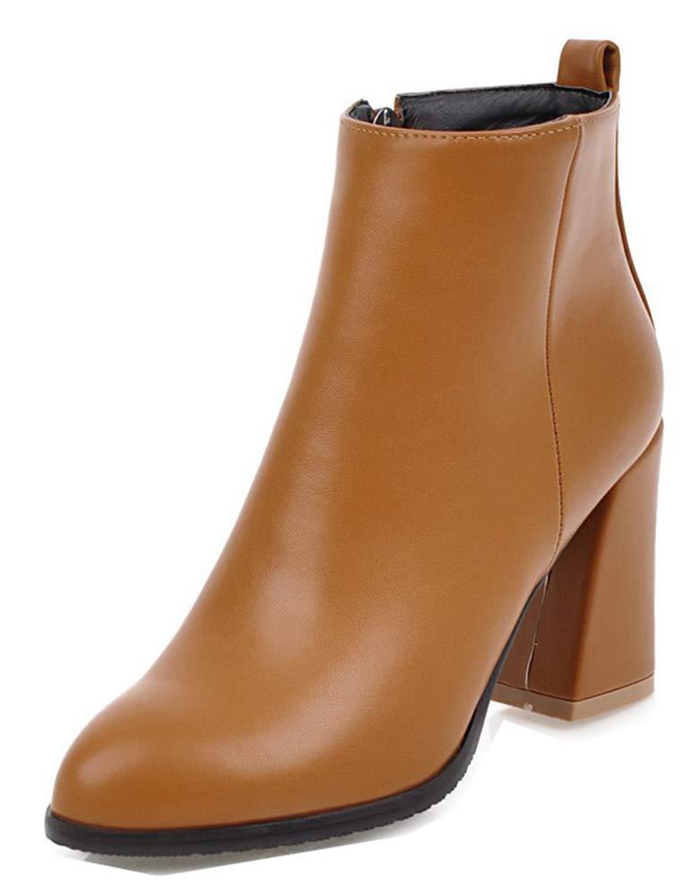 Aisun Femme Mode Brun Chaussures à Talon Evénement Haut Evénement B00KW4CJVC Bottines avec Zip Brun b9a5852 - boatplans.space