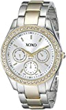 XOXO Women's Rhinestone Accent Two Tone Bracelet Watch Silver XO5429
