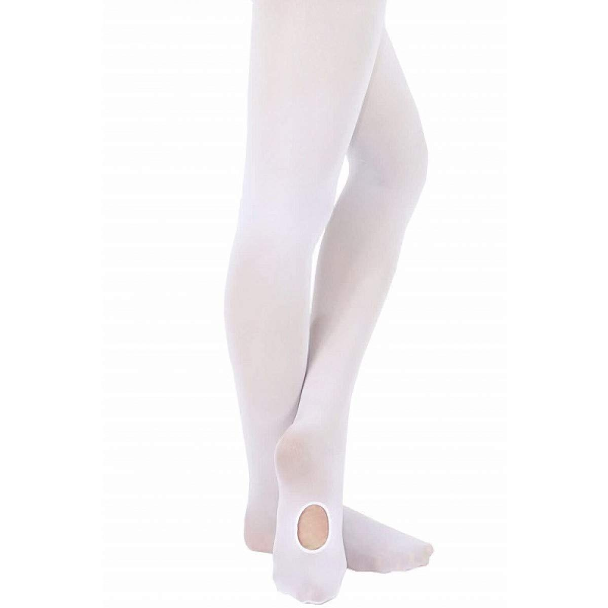 Grace Convertible Dance Tights (Child Large (2 Pack), White) by GDS