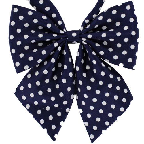 Tok Tok Designs Women's Premium Bow Ties Collection (W24, Silky Navy Blue)