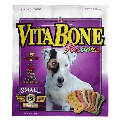 Vita Bone Small Dog Biscuits, Flavored, 12pack/24oz by Vita Pet Treats