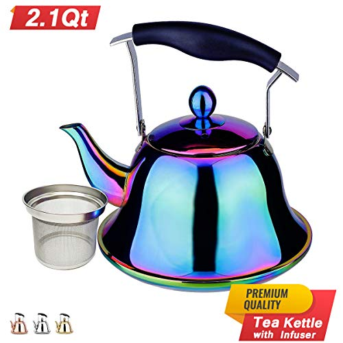 Rainbow Whistling Stainless Stovetop Teakettle product image