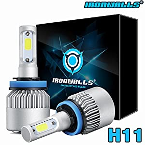 New IRONWALLS H11 195000LM LED Headlight Kits Bulbs H9 H8 6000K VS HID 35W 55W Fog