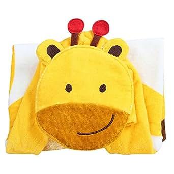 HAPPY CHERRY Niños Toalla de Baño de 100% Algodón Diseño Animal con Capucha Poncho / Toalla de Playa - 105x65cm - Jirafa