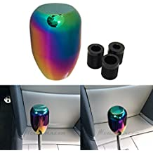 Round NEO Chrome Rainbow Manual Transmission Speed 5 6 Sport Gear Stick Shift Knob JDM Style Auto Shifter Console Lever