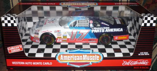 #7281 Ertl American Muscle Nascar Darrell Waltrip #17 Western Auto Monte Carlo 1/18 Scale Diecast