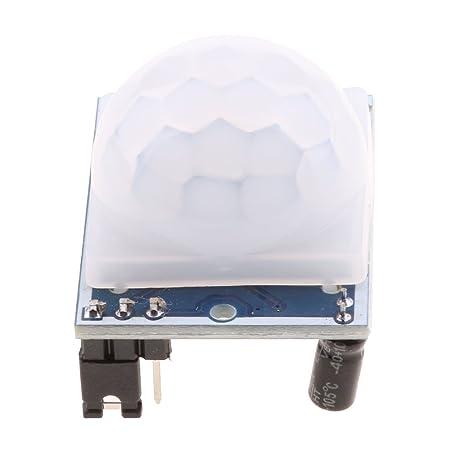 Homyl Módulo Infrarrojo Humano Sensor de movimiento HC-SR501 Azul Herramientas Multiusos Sensor de ángulo