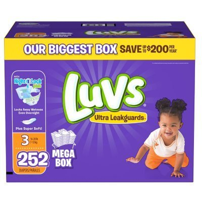 Luvs Ultra Leakguards Diapers (Size 3 - 252 ct.) (Luv Diapers Size 3)