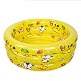 JPYG Inflatable Bathtub, Inflated Pool Baby Swimming Pool Plastic Collapsible Child Bathtub Portable (Color : Yellow)