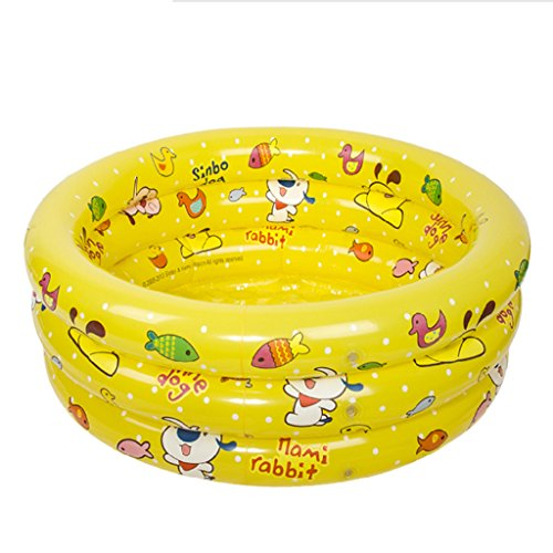 JPYG Inflatable Bathtub, Inflated Pool Baby Swimming Pool Plastic Collapsible Child Bathtub Portable (Color : Yellow) by JP bathtub