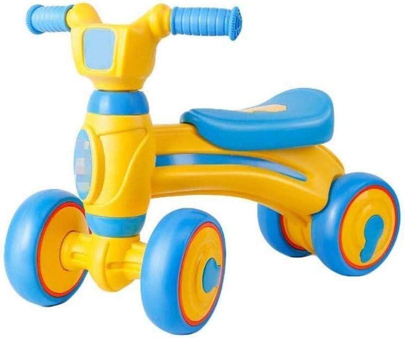SMLZV Bebé Bicicleta de Equilibrio, del niño de la Bicicleta por 10-24 Meses, Pero no los Pedales Bicicletas for Niños Niñas (Color : Yellow)