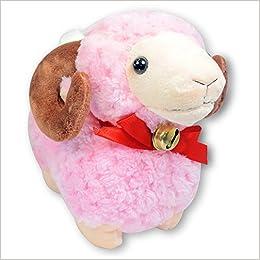 6 Pink Baby Ram Bighorn Sheep Stuffed Animal Soft Plush Toy Suction