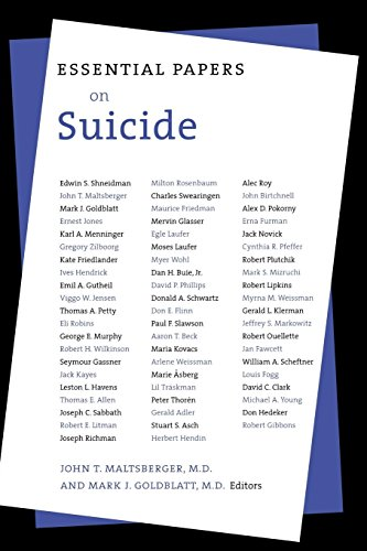 Essential Papers on Suicide (Essential Papers on Psychoanalysis) by NYU Press
