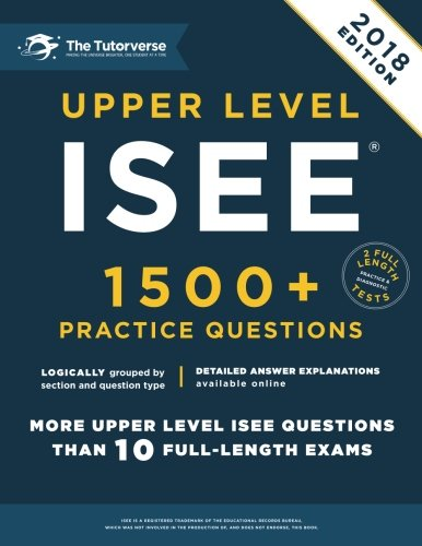 Upper Level ISEE: 1500+ Practice Questions cover
