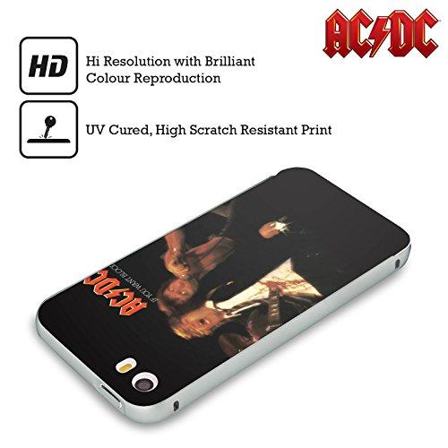 Officiel AC/DC ACDC Si Vous Voulez Sang Couverture D'album Argent Étui Coque Aluminium Bumper Slider pour Apple iPhone 6 Plus / 6s Plus