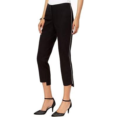 Alfani Petite Step-Hem Ankle Pants Deep Black 8p at Amazon Women's Clothing store