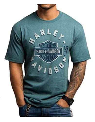 Harley-Davidson Men's Ominous Omissio Short Sleeve Crew Neck Shirt 5504-HC94