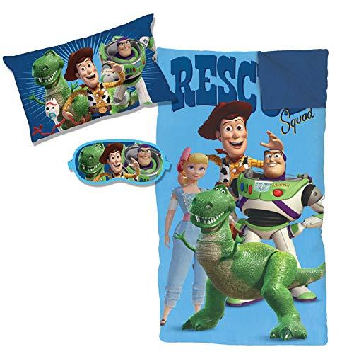 Jay Franco Disney Pixar Toy Story 4 Rescue 3 Piece Slumber Set, Blue
