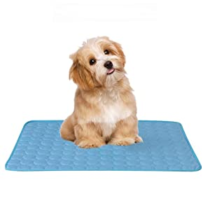 Dog Cooling Mat – Gel Self Cooling Mat for Dogs – This Pet Cooling Gel Pad Keeps Dogs and Cats Cool in Warm Weather – Pressure Activated, No Water or Electricity Needed, for Kennels
