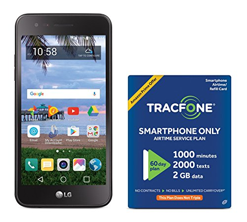 TracFone LG Rebel 2 4G LTE Prepaid Smartphone with Amazon Exclusive Free $40 Airtime Bundle by TracFone