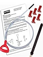 DIPSTICK w/ INSTRUCTIONS & 5 LOCKING PINS -Mercedes Benz Tool to check ATF Fluid Level 140589152100 / 722.6 5 Speed Automatic TRANSMISSION Trans oil Auto from APSG