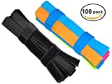 #4: Ceeyali 50 Pack Colorful + 50 Pack Black Reusable Fastening Cable Cord Tie Wire Organizer for Home Office Tablet PC TV Electronics Wire Management