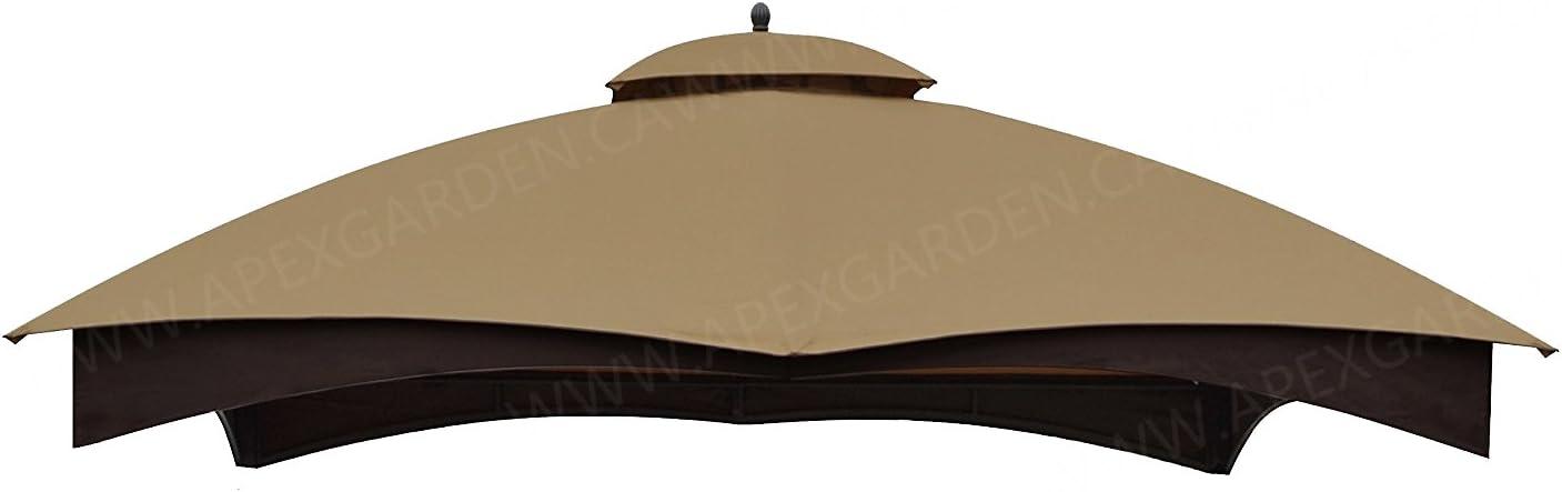 B00L6J0AMW APEX GARDEN Replacement Canopy Top for Lowe's Allen Roth 10X12 Gazebo #GF-12S004B-1 51c2B1mgTIcL.SL1500_