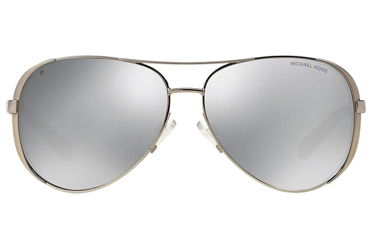 98e142c221 Michael Kors MK5004 Chelsea Polarized Sunglasses Silver w Silver Mirror   Amazon.ca  Clothing   Accessories