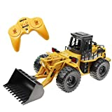 CR 6 Channel Alloy Remote Control Bulldozer Construction Vehicle 2.4GHz Full Functional Wheeled Loader Truck