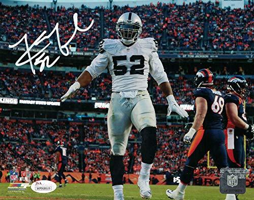 Khalil Mack Autographed/Signed Oakland Raiders 8x10 Photo JSA