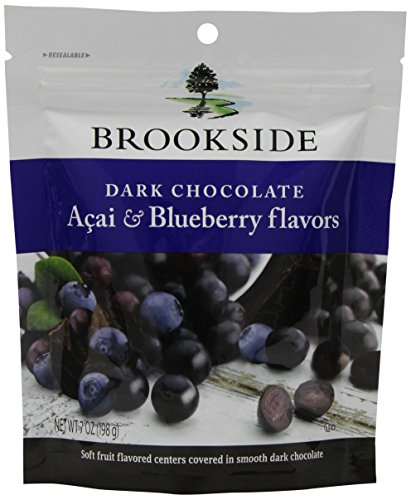 Brookside Dark Chocolate Acai & Blueberry Flavors Candy, 7-Ounce Bags (Pack of 12)