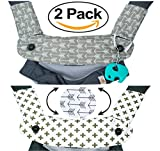 Premium 2 Packs Drool and Teething Reversible Cotton Pad | Fits Ergobaby Four Position 360 and Most Baby Carrier | Gray Arrow Cross Design | Hypoallergenic | Great Baby Shower Gift by Mila Millie Review