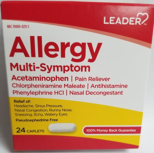 Leader Allergy Multi-Symptom, 24 Caplets Each (Pack of 10)