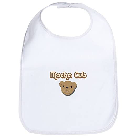 28db132f4 Amazon.com: CafePress - Mocha Cub Bib - Cute Cloth Baby Bib, Toddler Bib:  Clothing