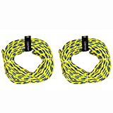 Obrien 60 Foot Long 2 Person Floating Tube Tow Rope, Blue & Yellow (2 Pack)