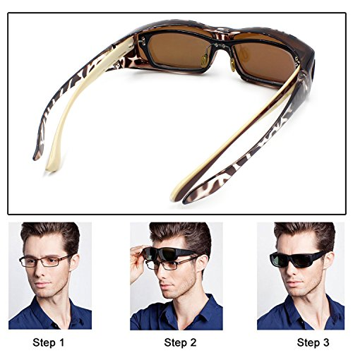 1b667a5347 Fit Over Glasses Sunglasses Polarized Lenses Men Women Wear Over  Prescription Glasses Outdoor sports sunglasses