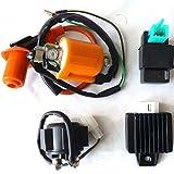 YunShuoIgnition Coil CDI Regulator Rectifier Starter Relay 70 110 125 PIT DIRT ATV BIKE