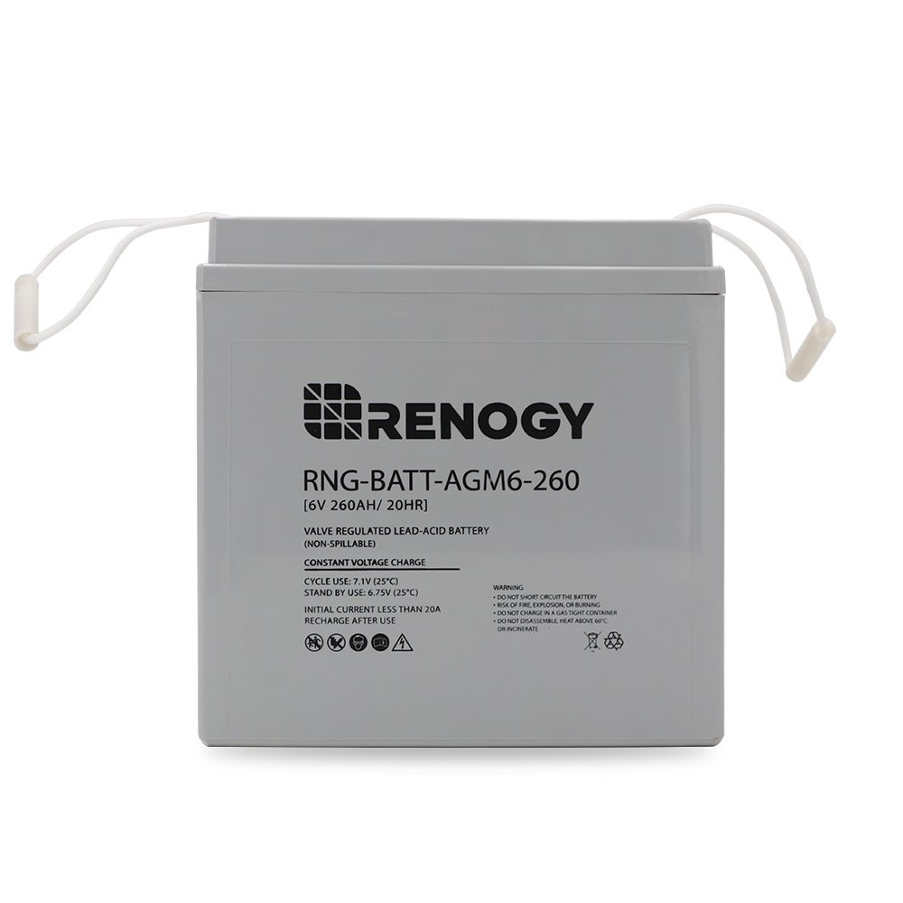 Renogy Deep Cycle AGM Battery 12 Volt 200Ah for RV Solar Marine and Off-Grid Applications