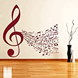 DreamKraft Music Notes Wall Decor Art Stickers Vinyl Decals Home Decor for Living Room & Kids bedroom (24X22 Inch)