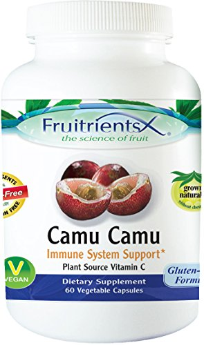 Camu Camu Helps Detox the Body, Strengthens Immune System, Supports Anti Aging, & Plant Source Vitamin C Emerald Laboratories (Fruitrients) 60 Vegetable Capsules