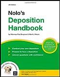 Nolo's Deposition Handbook, Paul Bergman and Albert Moore, 1413306268