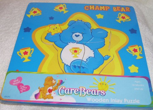 2004 Care Bears Champ Bear Wooden Inlay -