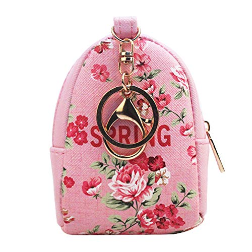 Mini Coin Purse Keychain Wallet Backpack Shape with Key Ring,2 Pack Photo #5